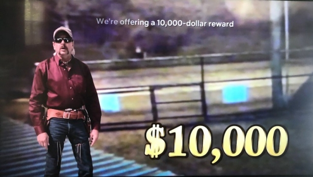 Joe Exotic Reward Offer