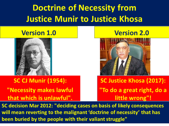 Learning and Life: Doctrine of Necessity from CJ Munir to Judge ...